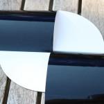 Secchi-Scheibe - Klebefolie schwarz